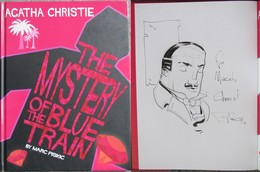Piskic - Agatha Christie - The Mystery Of The Blue Train - Comics + Drawing Sketch - BD + Belle Dedicace - Collections