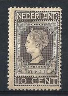 NL33) OLANDA 1913 Cent.rio Indipendenza MLH UNIF.85 - Nuovi