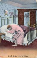 Look Before You (S)leap Sleep Sleap - Illustration Humour - Ed. Bamforth's Comics - Etats-Unis
