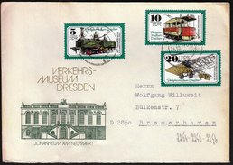 Germany DDR Stendal 1977 / Trains / Railway / Tramway, Airplane - Treni