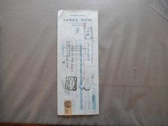 ROUBAIX ANDRE WEIL DRAPERIE 25 & 27 RUE PAUVREE TRAITE DU 9 JANVIER 1928 - France