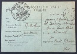 Carte De Franchise Militaire Cachet SECTION D'EXPERIMENTATION DU GENIE Mars 1940 Vers Thivencelles Nord - Marcophilie (Lettres)
