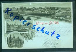 AK Litho St. Vith, Saint Vith, Mondschein, Mehrbild, Gel. 1899 - Saint-Vith - Sankt Vith