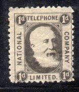 XP2969 - GRAN BRETAGNA 1884 , Francobolli Telefono 1 D  Nuovo  * - Gran Bretagna