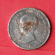 SPAIN 5 PESETAS 1888 - REPLICA -  21 GRS 37 DIM     - (Nº18050) - Spain