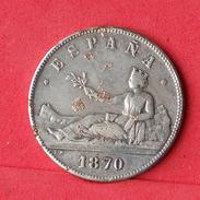 SPAIN 5 PESETAS 1870 - REPLICA - 21 GRS 37 DIM     - (Nº18051) - Spain