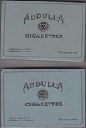 Cigarettes Abdulla - Boites à Tabac Vides