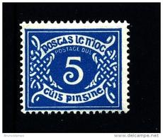 IRELAND/EIRE - 1971  POSTAGE DUE  5d  E WMK  INVERTED  MINT NH SG D19w - Segnatasse