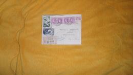 LETTRE RECOMMANDEE DE 1949. / R 355 CHALON SUR SAONE 62 A AIGUEPERSE. / CACHETS + TIMBRES X 6/ - Marcophilie (Lettres)