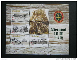 1000th Anniversary Of Lithuania. Lietuva Litauen Lituanie Litouwen Lithuania 2003 MNH # Mi. 821/4 Block 27