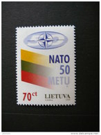 Lietuva Litauen Lituanie Litouwen Lithuania 1999 MNH # Mi. 692 50th Anniversary Of NATO.