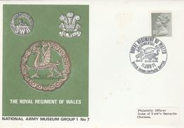 1971 GB  Royal REGIMENT OF WALES EVENT  COVER Dragons Dragon Pmk Stamps British Forces - Mythology
