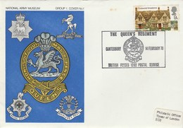 1970 GB QUEENS REGIMENT CANTERBURY  EVENT COVER Dragons Pmk Dragon British Forces  Stamps - Mythology