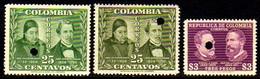 00076 Colombia 415/a/16 Prova Com Furo De Segurança Nnn - Kolumbien