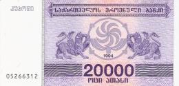 GEORGIE   20,000 (Laris)   1994   P. 46b  UNC - Géorgie