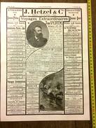 PUBLICITE 1887 COLLECTION HETZEL JULES VERNE - Vieux Papiers