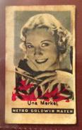 FIGURINA CINEMA ANNI 30  UNA MARCKEL  DELLA METRO GOLDWIN MAYER  Pubblicitaria CARAMELLE  L.VICENTINI THIENE - Altre Collezioni