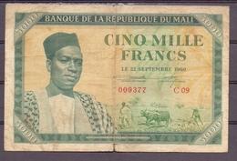 Mali 5000 Fr  1960  RR  Green - Billets
