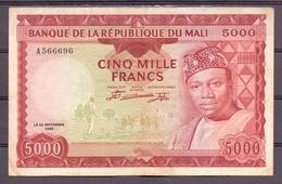 Mali 5000 Fr  1960  RR  Red  Rouge  RR  XF - Billets