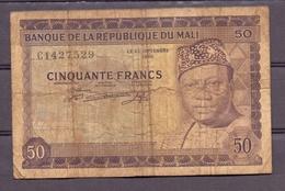 Mali 50 Fr  Modibo Keita A/r  VG - Billets