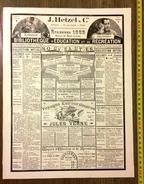 PUBLICITE 1889 COLLECTION HETZEL JULES VERNE  ET AUTRES - Vieux Papiers