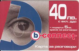 BULGARIA - Eye, B Connect Prepaid Card 40 Leva, Exp.date 27/09/07, Mint
