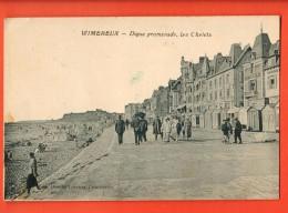 IBD-10  Wimereux  Digue Promenade, Les Chalets.  Circulé En 1925, Timbre Manque - France