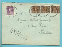 338+341 Op Brief Per EXPRES Met Stempel GEMBLOUX 2 - 1931-1934 Kepi