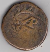 @Y@    India Portugees   1826 - 1834   1/2 Tanga  Rare Coin  (4907 ) - India