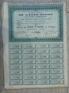 Société Anonyme De L'éden Casino Et Des Terrains De Berck-sur-mer Action 100 F 1901 - Casino