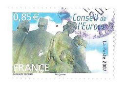 Used Stamp Timbre Oblitéré Europarat Conseil Europe France 2007 - Frankreich