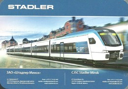 RAIL * RAILROAD * RAILWAY * TRAIN * RAILCAR * FLIRT 160 * CJSC * MINSK * CALENDAR * Stadler 2017 * Belarus - Calendarios