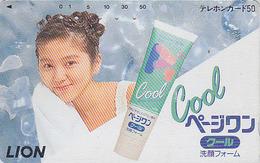 Télécarte Japon / 110-93970 - FEMME - Pub LION / Produit De Beauté COOL - Woman GIRL Japan Phonecard - FRAU TK - 2567 - Parfum
