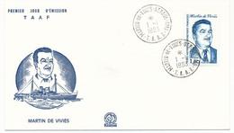 TAAF - Enveloppe FDC - 1,80 Martin De Vivies - St Martin De Vivies - 1-1-1983 - FDC