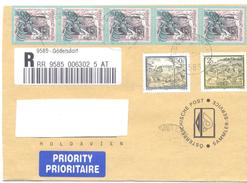 2001. Austria, The Letter Sent By Registered Prioritaire Post To Moldova - 1945-.... 2a Repubblica