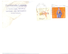 1999. Portugal, The Letter Sent By Air-mail Post To Moldova - 1910-... República
