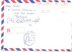 1999. Portugal, The Letter Sent By Registered  Air-mail Post To Moldova - 1910-... República