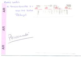 2001. Portugal, The Letter Sent By Registered  Post To Moldova - 1910-... République