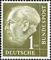 RFA Poste N** (Yv:  72 Mi 194 Yv:2 Euro) Theodor Heuss