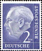 RFA Poste N** (Yv:  72A Mi 195 Yv:4 Euro) Theodor Heuss
