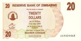 ZIMBABWE 20 DOLLARS 2006 P-40 UNC  [ZW131a] - Zimbabwe