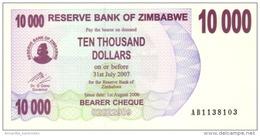 ZIMBABWE 10000 DOLLARS 2007 P-46b UNC  [ZW137b] - Zimbabwe