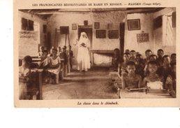 CONGO BELGE---BASOKO---les Franciscaines Missionnaires De Marie En Mission-la Classe Dans Le Chimbeck-voir 2 Scans - Congo Belge - Autres