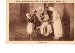 MAROC---OUDJDA---les Franciscaines Missionnaires De Marie En Mission---a La Goutte De Lait---voir 2 Scans - Autres