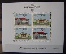 AZORES - IVERT HB 11 - NUEVOS * * TEMA EUROPA - CEPT 1990 (R004)