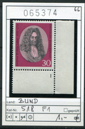 Bundesrepublik - RFA - Allemagne - Germany - Michel 518 - Eckrandstück Mit FormNr. 1 - Postfrisch