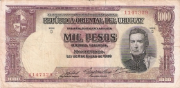 URUGUAY   1000 Pesos   L. 1939   P. 41c - Uruguay