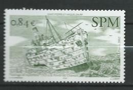 St. Pierre Et Miquelon 2002 Stranded Vessels.Ships.MNH - St.Pierre & Miquelon
