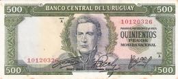 URUGUAY   500 Pesos   ND (1967)   P. 48a - Uruguay