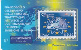 ITALIA 2004 - COSTITUZIONE DELL'EUROPA - TESSERA FILATELICA - 6. 1946-.. Republic